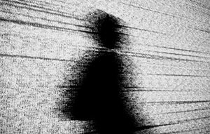 a person in a shadow