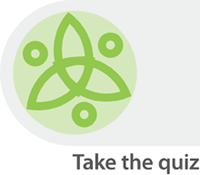 icon image with text saying take the quiz