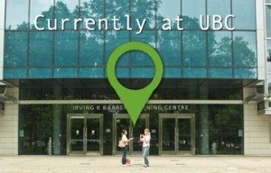 a geo tag saying it is currently at ubc
