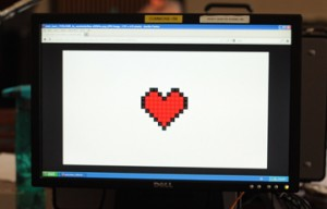 heart on screen