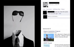 a person with a mysterious Facebook profile