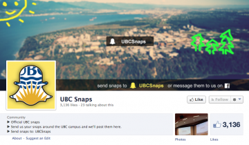 "UBC Snaps: the appeal of ""disappearing"" media"