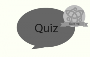 a speech bubble with quiz