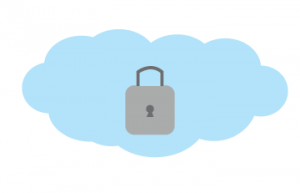 a picture of a lock on cloud