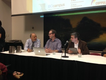 The Open Access panel at SFU Harbour Centre. Photo by Jon Hernandez