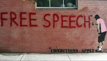 Free Speech - Some Conditions Apply