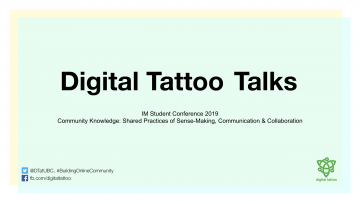 Building Online Communities: Digital Tattoo at the IM Conference 2019